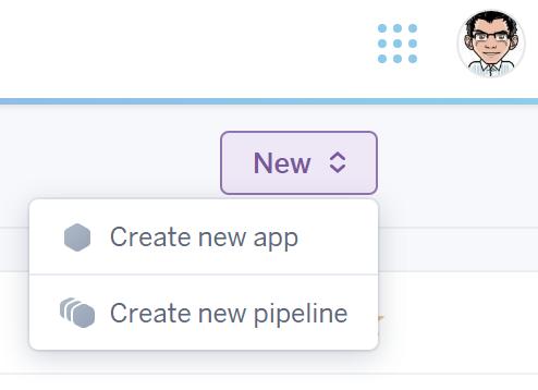 heroku create new app